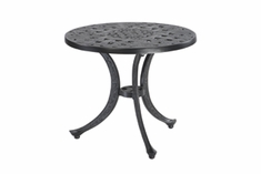 "Verona By Gensun Luxury Cast Aluminum Patio Furniture 21"" Round End Table"