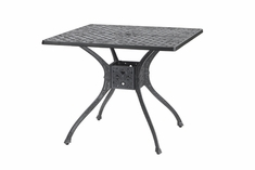 "Verona By Gensun Luxury Cast Aluminum Patio Furniture 36"" Square Dining Table"