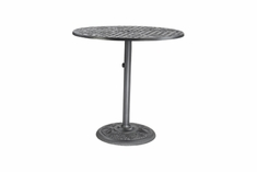 "Verona By Gensun Luxury Cast Aluminum Patio Furniture 42"" Round Pedestal Balcony Table"