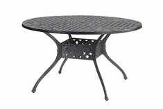 "Verona By Gensun Luxury Cast Aluminum Patio Furniture 48"" Round Dining Table"