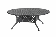 "Verona By Gensun Luxury Cast Aluminum Patio Furniture 54"" Round Chat Table"