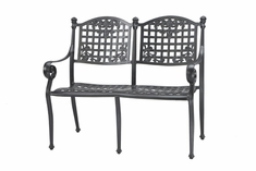 Verona By Gensun Luxury Cast Aluminum Patio Furniture Bench