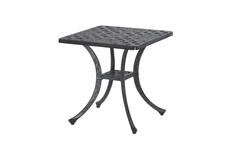 Verona By Gensun Luxury Cast Aluminum Patio Furniture Square End Table