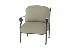 Verona By Gensun Luxury Cast Aluminum Patio Furniture Stationary Club Chair