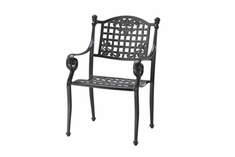 Verona By Gensun Luxury Cast Aluminum Patio Furniture Stationary Dining Chair