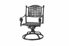 Verona By Gensun Luxury Cast Aluminum Patio Furniture Swivel Dining Chair
