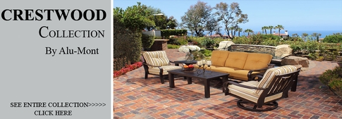 View all alu mont collection crestwood patio furniture for Alumont outdoor furniture