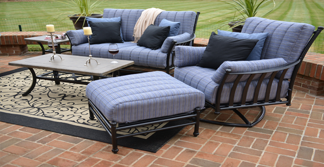 View All Amia Collection Cast Aluminum Deep Seating Patio Furniture Sets