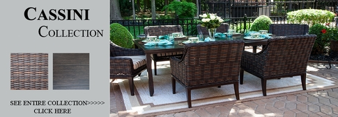 View All Cassini Collection All Weather Wicker Patio Furniture Dining Sets
