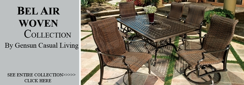 View All Gensun Bel Air Collection Woven Patio Furniture Dining Sets