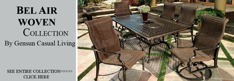 Wonderful View All Gensun Bel Air Collection Woven Patio Furniture Dining Sets