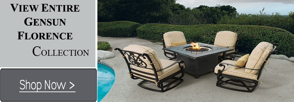 View All Gensun Florence Cast Aluminum Patio Furniture Sets