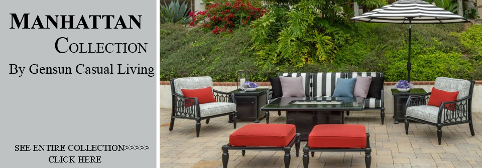 View All Gensun Manhattan Collection Patio Furniture Deep Seating Sets