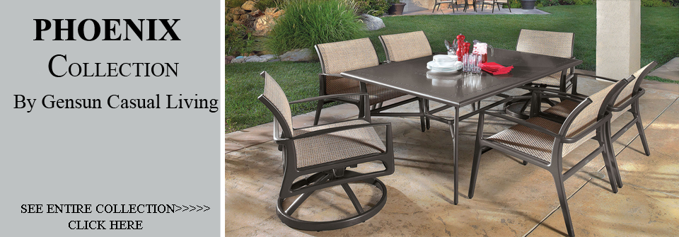 View All Gensun Phoenix Collection Sling Patio Furniture Dining  SetsAluminum Sling Patio Furniture Sets By Open Air Lifestyles LLC