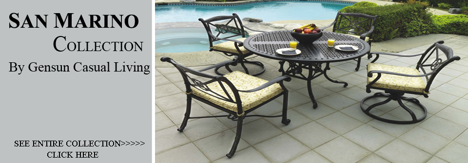 View All Gensun San Marino Collection Patio Furniture Dining Sets