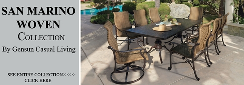 View All Gensun San Marino Collection Woven Patio Furniture Dining Sets
