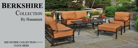 view all hanamint collection berkshire cast aluminum patio furniture deep seating sets
