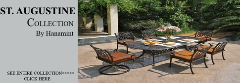 View All Hanamint Collection St. Augustine Cast Aluminum Patio Furniture  Dining Sets