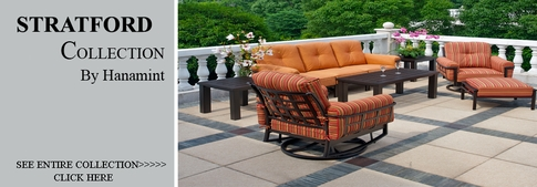 View All Hanamint Collection Stratford Cast Aluminum Patio Furniture Deep Seating Sets