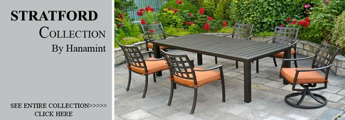 View All Hanamint Collection Stratford Cast Aluminum Patio Furniture Dining  Sets