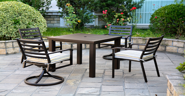 View All Hanamint Collection Westfield Cast Aluminum Patio Furniture Dining Sets