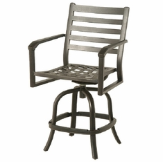 Westfield By Hanamint Luxury Cast Aluminum Swivel Counter Height Chair