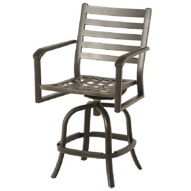 Westfield by hanamint luxury cast aluminum swivel counter for Outdoor furniture quad cities
