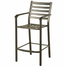 Westfield By Hanamint Luxury Cast Aluminum Stationary Bar Height Chair