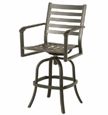 Westfield By Hanamint Luxury Cast Aluminum Swivel Bar Height Chair