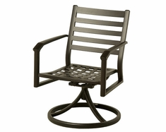 Westfield By Hanamint Luxury Cast Aluminum Swivel Dining Chair