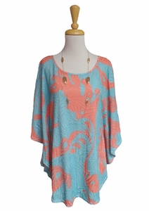 "a' la carte #L17206BM ""Calypso"" Multi Flutter Sleeve Kaftan/Final Sale"
