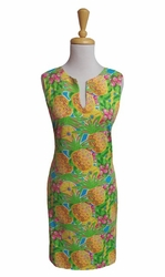 Barbara Gerwit #610C70 Pineapple Mix Sleeveless Dress/Final Sale