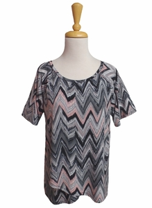 Erin London #21926 Hot Topics Gray/Pink/Black Top/Final Sale
