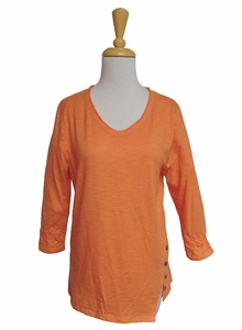 Erin London #43029 Fly Away Clementine Orange Top/Final Sale