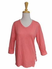 Erin London #43029 Fly Away Coral Top/Final Sale