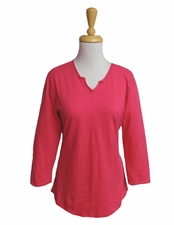 Habitat Clothes #27415 Rouge Notched Neck Pullover Top/Final Sale