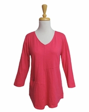 Habitat Clothes #27429 Rouge Pieced Pullover Top/Final Sale