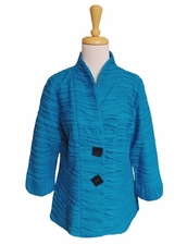 IC Collection #2992J Turquoise Swing Jacket