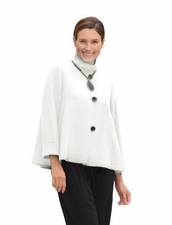 IC Collection #5249J Winter White Short Swing Jacket