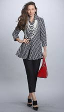 IC Collection #5935J Black/White Swing Jacket