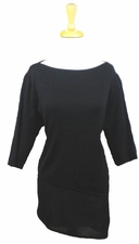 "Ming #G0024F 27""-33"" Long Black  Tunic"