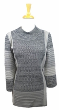 Ming Sterling/Granite/Ivory Tunic #G0027F