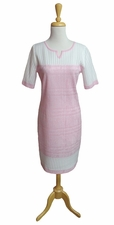 Ming Wang #M6873S Perfect Pink/White Dress/Final Sale