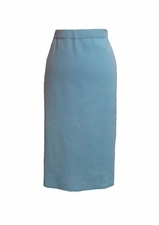"Ming Wang #MS2500 25"" Dew Blue Straight Skirt/Final Sale"