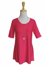 "Multiples Clothing #M27117TM ""Pulitzer Prize"" Bright Pink Top/Final Sale"
