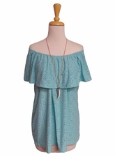 "Multiples Clothing #M27311TM ""Santa Fe"" Turquoise Sleeveless Peasant Top/Final Sale"