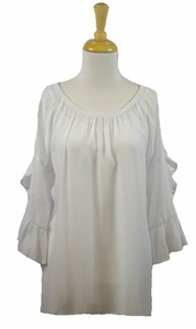"Multiples Clothing #M37110TM ""Sophisticated Lady"" White Top"