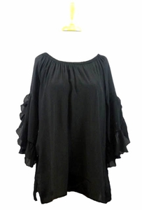 "Multiples Clothing #M37110TM2 ""Sophisticated Lady"" Black Top"