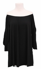 "Multiples #M18102TM ""Missy Essential"" Black Flounce Top"