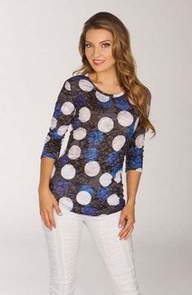 Newport By Carine #G17193S White Spheres Top